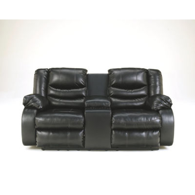 Signature Design By Ashley® Linebacker Durablend Reclining Loveseat With Console