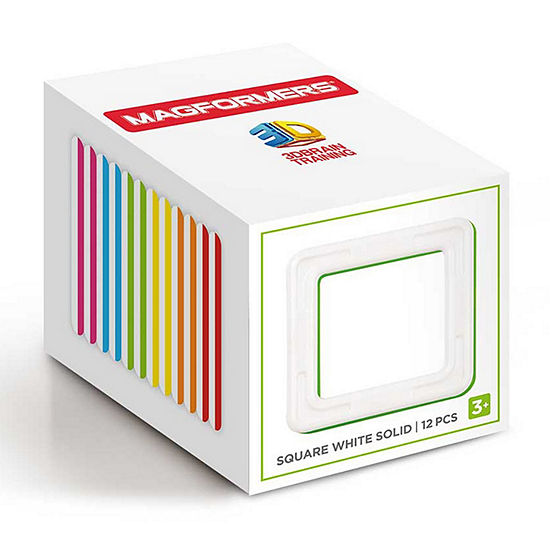 Magformers Square White Solid 12PC Set