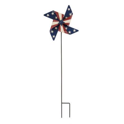 Patriotic Wind Spinner Yard Stake