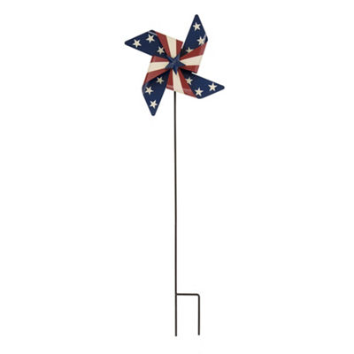 Patriotic Wind Spinner Yard Stake