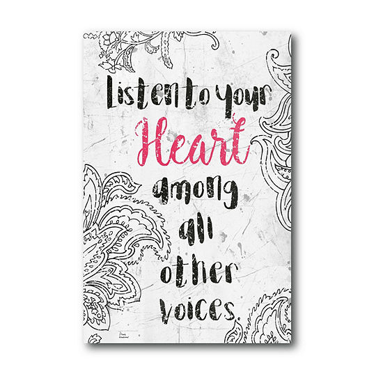 Courtside Market Listen To Your Heart Canvas Art