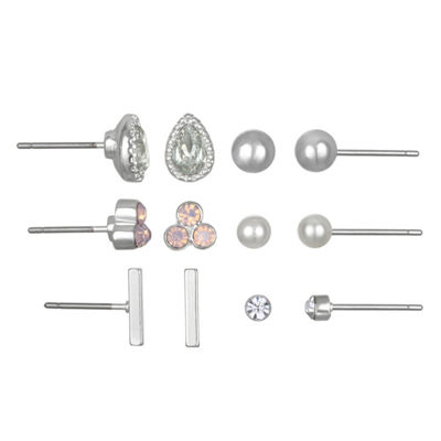 Mixit 6 Pair Earring Set