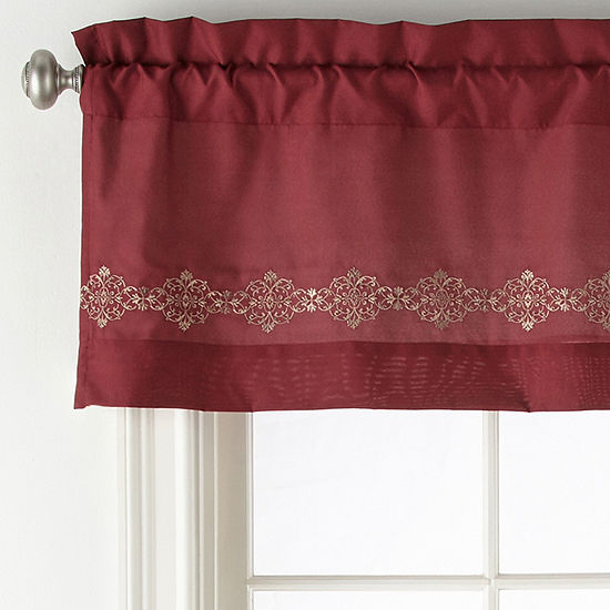 JCPenney Home Creston Rod-Pocket Tailored Valance