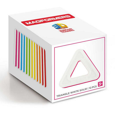 Magformers Triangle White Solid 12PC Set