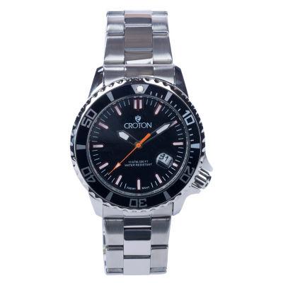 Croton N/A Womens Black Bracelet Watch-Cn207596bkmp
