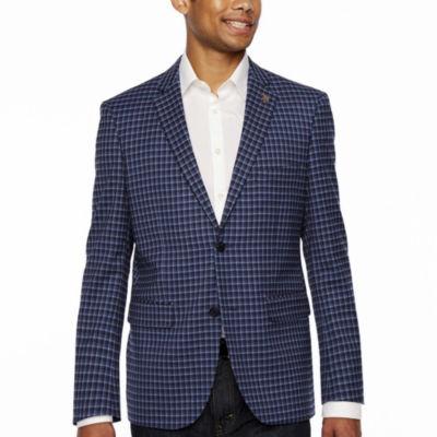 U.S. Polo Assn. Blue Gingham Slim Fit Sport Coat