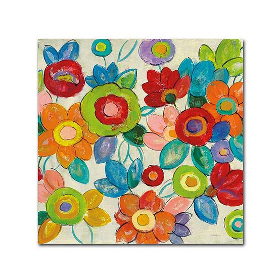 Trademark Fine Art Silvia Vassileva Decorative Flowers Bright Crop Giclee Canvas Art