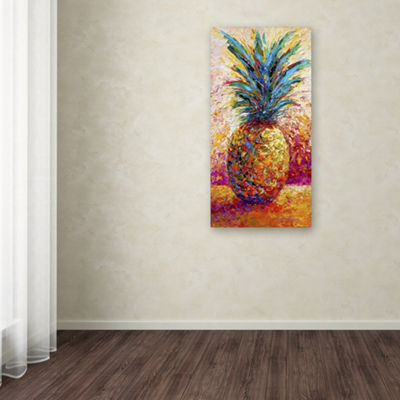 Trademark Fine Art Marion Rose Pineapple Expression Giclee Canvas Art