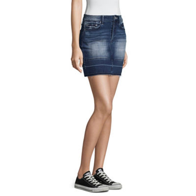 Almost Famous Denim Skirt-Juniors