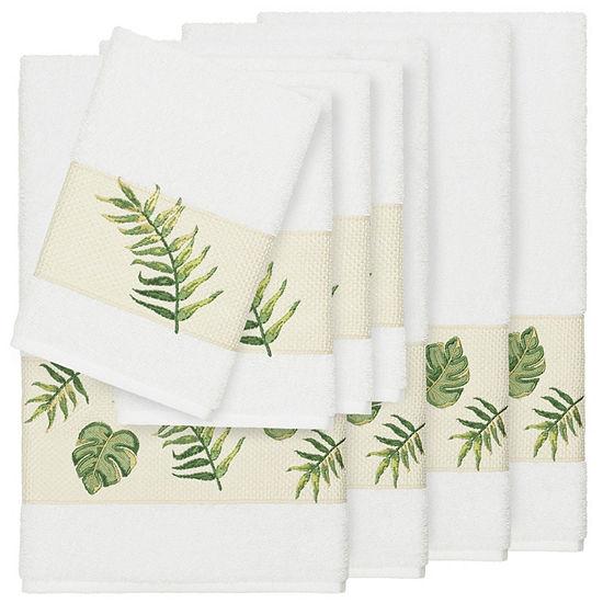 Linum Home Textiles 100% Turkish Cotton Zoe 8PC Embellished Towel Set