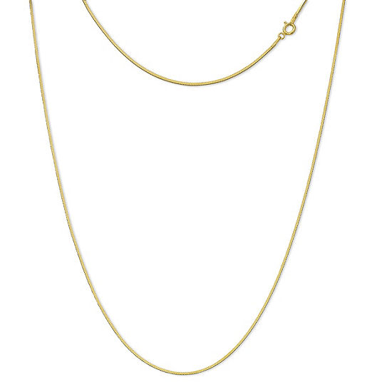 Made in Italy 24K Gold Over Silver Sterling Silver 20 Inch Solid Box Chain Necklace