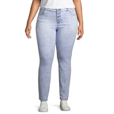 Blue Spice Womens High Waisted Jeggings - Juniors Plus