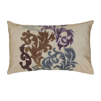 Rizzy Home Beckett Floral Decorative Pillow