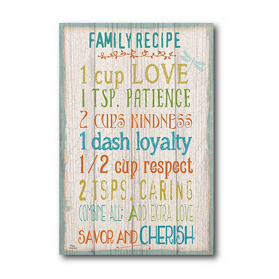 Courtside Market Family Rules Canvas Art