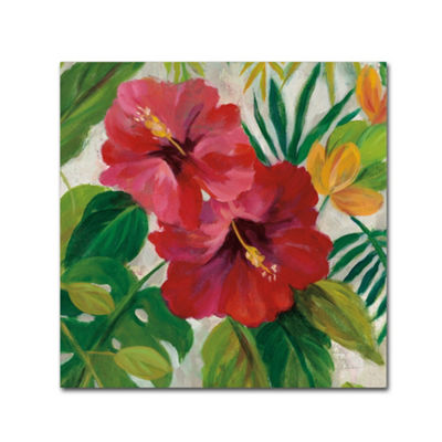Trademark Fine Art Silvia Vassileva Tropical Jewels I v2 Crop Giclee Canvas Art