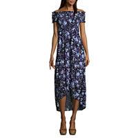 Arizona Short Sleeve Maxi Dress Juniors Deals