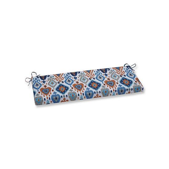 Pillow Perfect Paso Azure Patio Bench Cushion