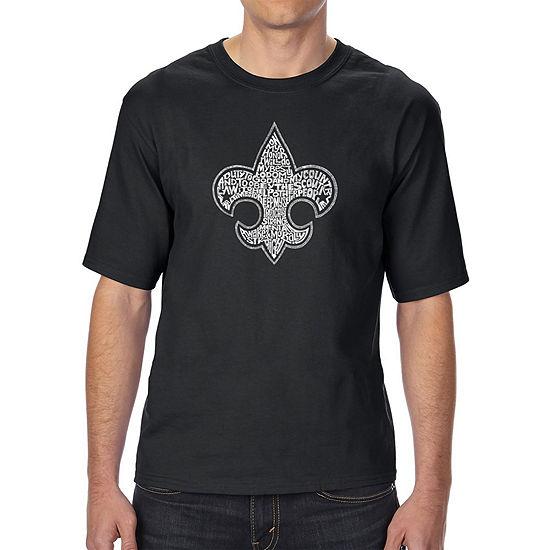 Los Angeles Pop Art Men's Tall and Long Word Art T-shirt - Boy Scout Oath
