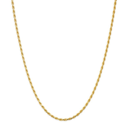 Made In Italy 24K Gold Over Silver Sterling Silver Solid Rope 24 Inch Chain Necklace