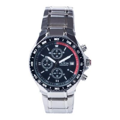 Croton N/A Mens Silver Tone Bracelet Watch-Ca301298ssbl