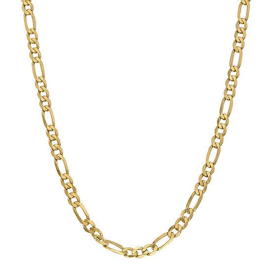 14K Gold 18 Inch Solid Figaro Chain Necklace