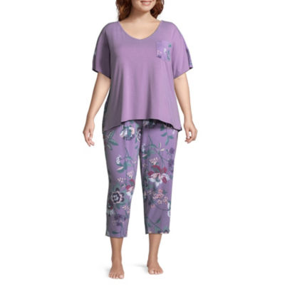 Liz Claiborne Print Mix Dolman PJ Set Plus