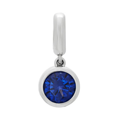 PS Personal Style Simulated Blue Sapphire Sterling Silver Round Charm