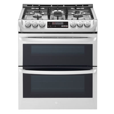 LG 6.9 cu.ft. - Gas Double Oven Slide-In Range with ProBake Convection®