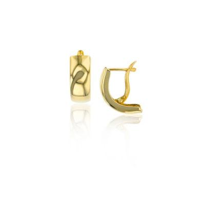 14K Gold 16mm Hoop Earrings
