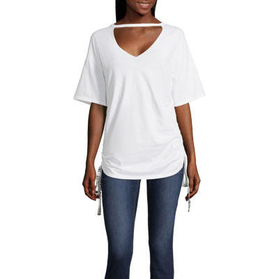 Project Runway V-Neck Graphic Tape Tee