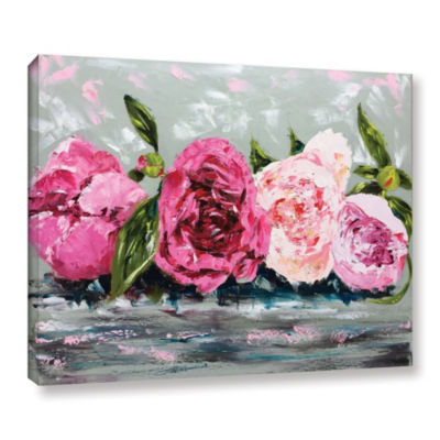 Row Of Peonies II Gallery Wrapped Canvas