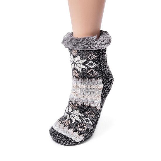Muk Luks 1 Pair Crew Socks Womens