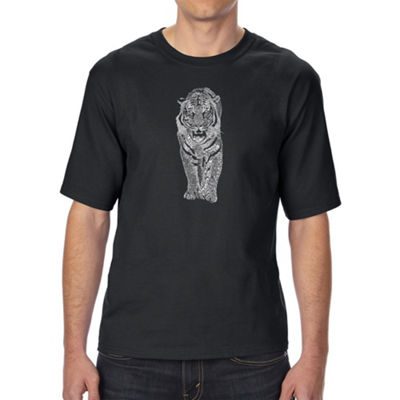 Los Angeles Pop Art Men's Tall and Long Word Art T-shirt - TIGER