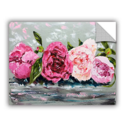 Row Of Peonies II Removable Wall Decal
