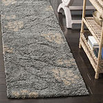Safavieh Shag Collection Brock Floral Runner Rug