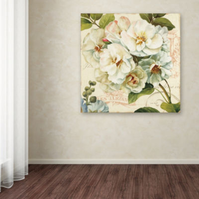 Trademark Fine Art Lisa Audit Les Jardin III Giclee Canvas Art