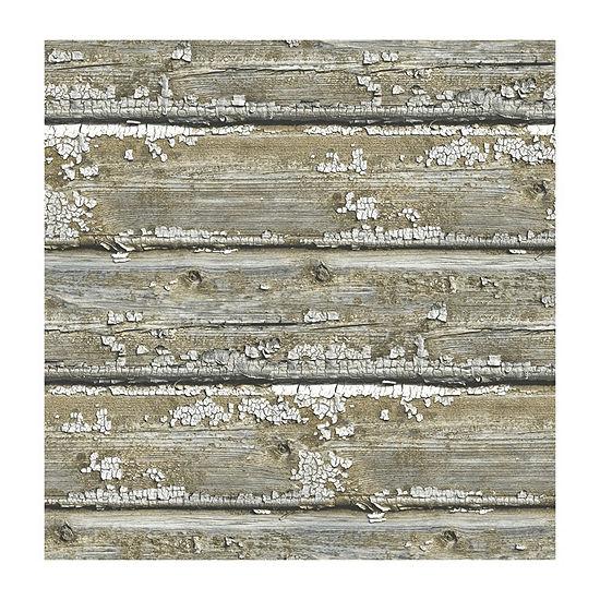 Brewster Wall Planks Peel & Stick Wallpaper Wall Decal