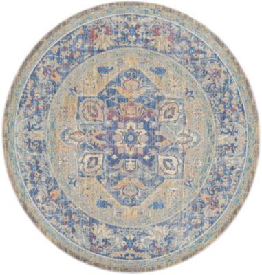 Safavieh Claremont Collection Justine Oriental Round Area Rug