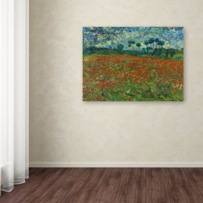 Trademark Fine Art Van Gogh Poppy Field Giclee Canvas Art