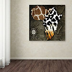 Trademark Fine Art Color Bakery Animal Map Of Africa Giclee Canvas Art