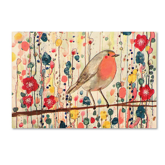 Trademark Fine Art Sylvie Demers Je Ne Suis Pas Quun Oiseau Giclee Canvas Art