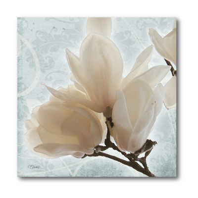Magnolia Blue II Canvas Art