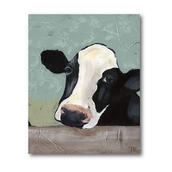 Courtside Market Holstein Cow Iii Canvas Art