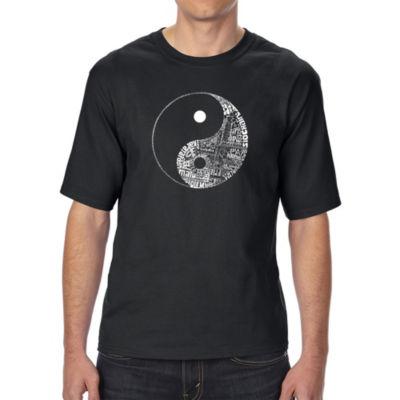 Los Angeles Pop Art Men's Tall and Long Word Art T-shirt - YIN YANG