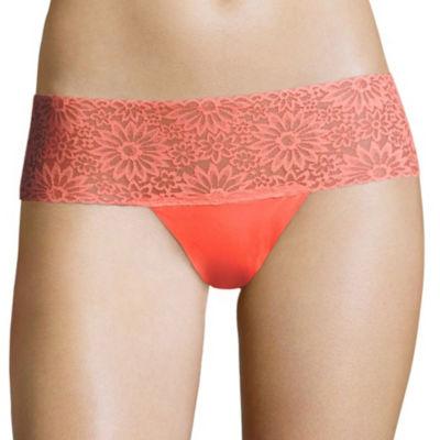 Flirtitude Lace Trim Thong Panty