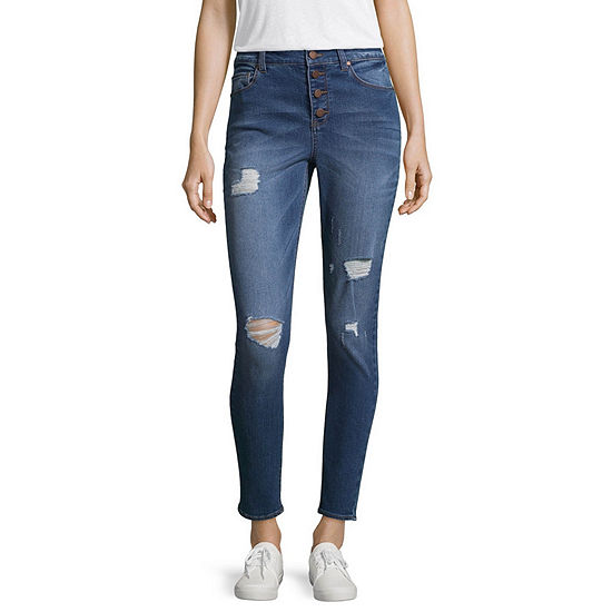 Tinseltown Womens High Waisted Skinny Jeggings - Juniors