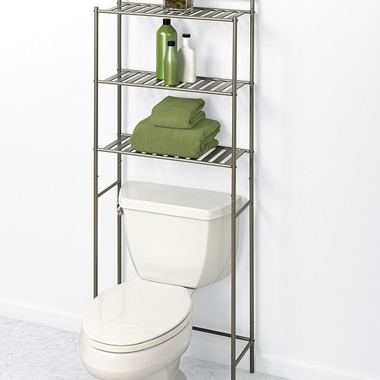 Zenna Home Slat Style Over Toilet Storage