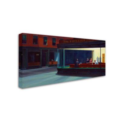Trademark Fine Art Edward Hopper Nighthawks Giclee Canvas Art