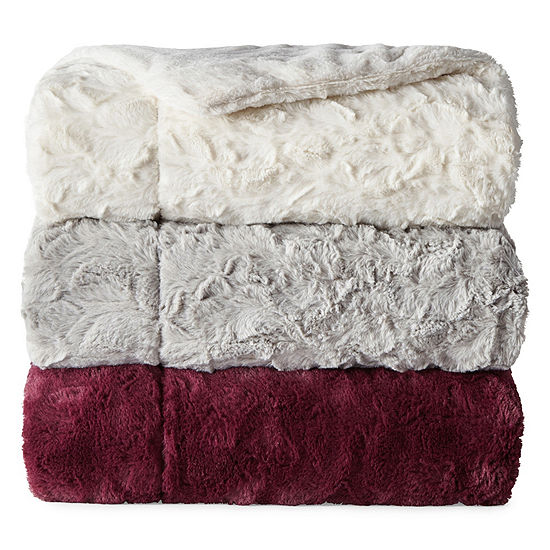 North Pole Trading Co Bretton Faux Fur Throw