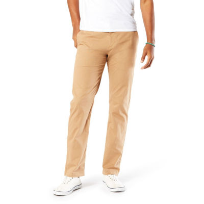 Dockers Washed Khaki Mens Slim Fit Flat Front Pant
